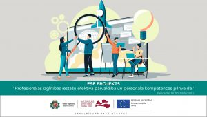 """ESF projekts """"Profesionālās izglītības iestāžu efektīva                              pārvaldība un personāla kompetences pilnveide"""""""
